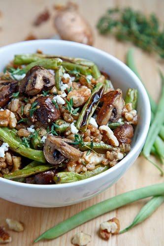 Roasted Mushroom and Green Bean Salad 500 3674